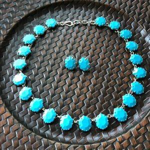 Kendra Scott Turquoise Necklace & Earrings Set